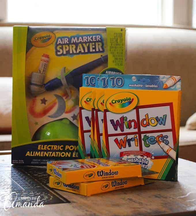 crayola window air brush sprayer