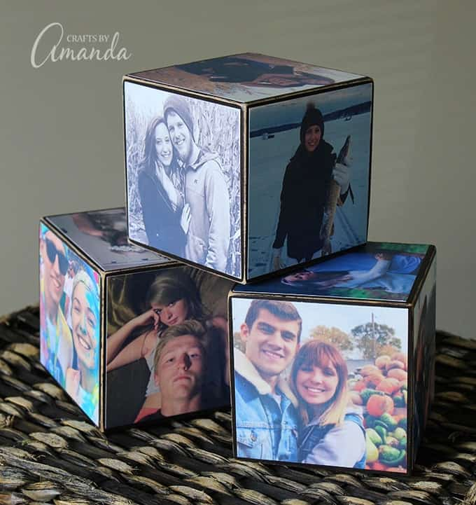 Photo cubes covered with pictures your kids are also great for grandparents. Photos of couples are ideal for those getting engaged, newly married or celebrating an anniversary.