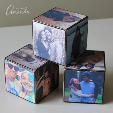 Whatever the occasion, the gift of a handmade photo cube is a fun personalized gift they will cherish forever.