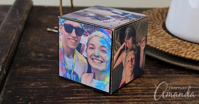 When making a photo cube, you will definitely want photos that have been printed on photo paper rather than copier or printer paper.