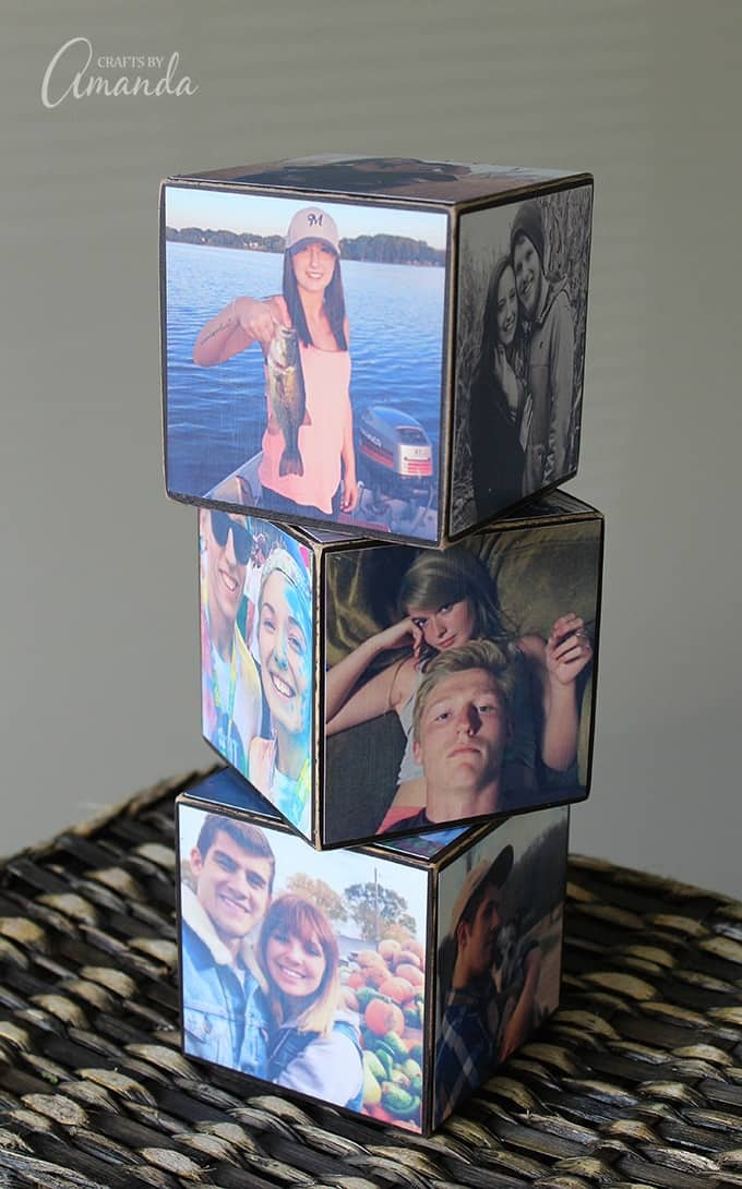 A photo cube is easy to make photo craft and is the perfect personalized gift for birthdays, holidays, weddings and anniversaries. If you need a gift idea for a friend, learn how to make a photo cube!