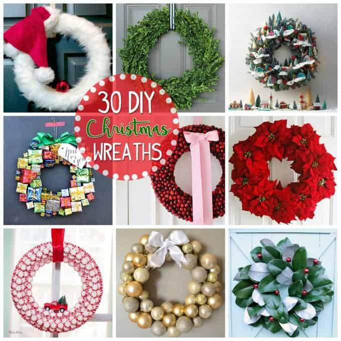 DIY Christmas Wreath Ideas Collage