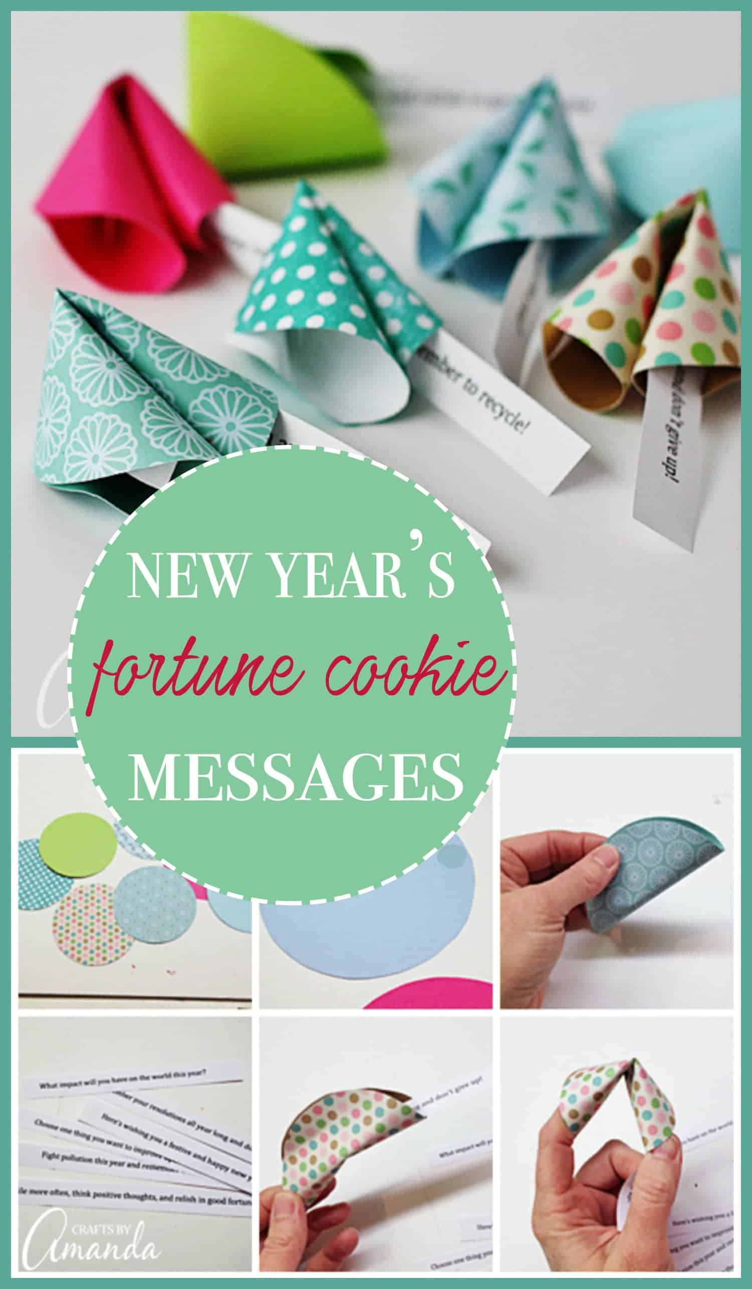 Paper fortune cookie messages are perfect for New Year's, birthday parties, Valentine's Day & other holidays. Paper fortune cookie messages are fun to make!