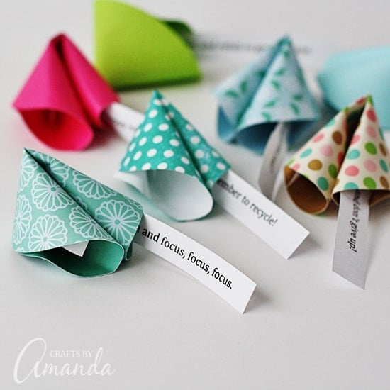 paper fortune cookie messages are perfect for new years birthday parties valentines day