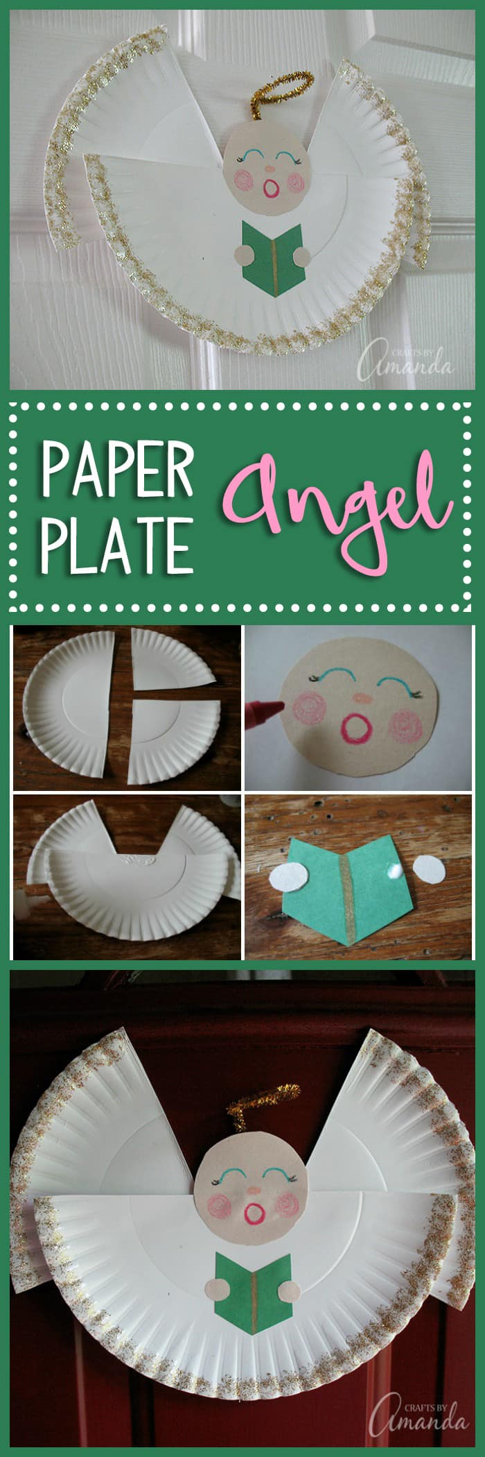 Paper Plate Angel - learn how to make a pretty angel from a paper plate, a fun Christmas craft for kids!