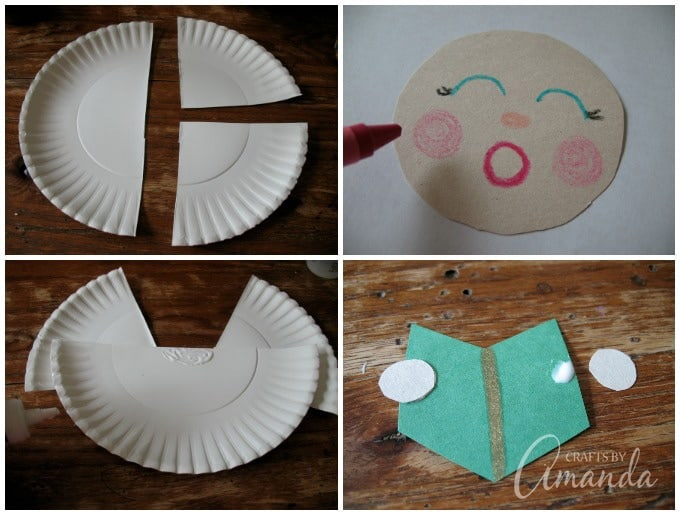 steps for making a Make a Paper Plate Angel