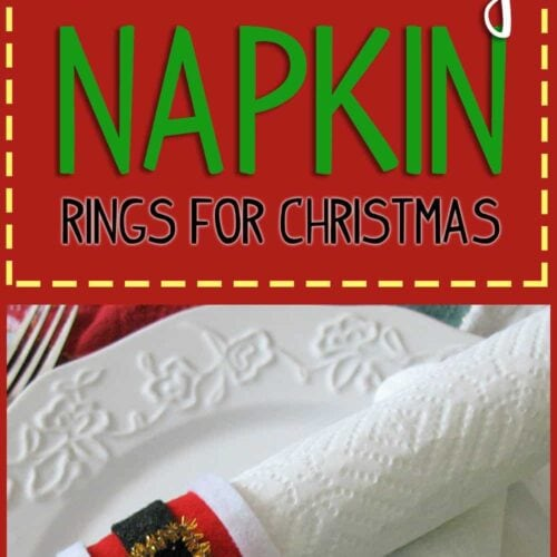Turn cardboard paper towel tubes into adorable Santa's belly napkin rings for Christmas! It's a fun kid's craft that you can use for holiday celebrations.