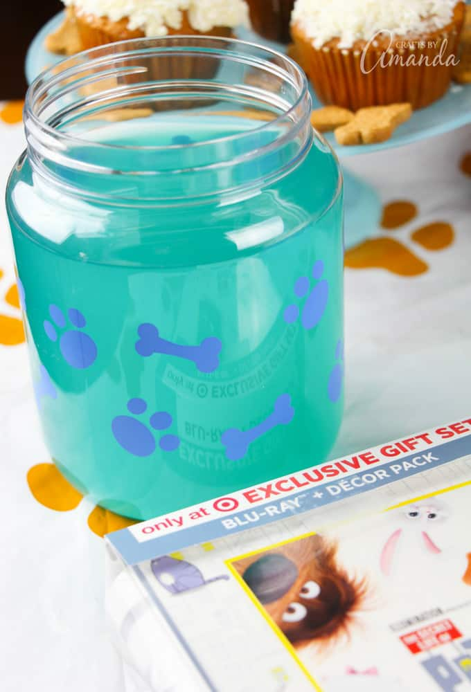 "For our ""dog water"" we used a Blue Raspberry Lemonade"
