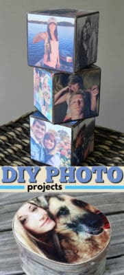 DIY photo projects pin image