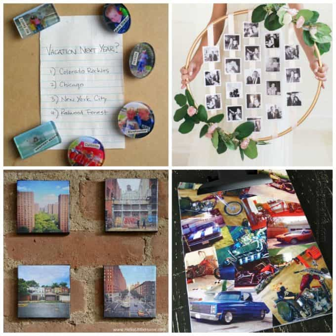 These DIY photo projects are perfect gifts for Valentine's Day, Christmas, weddings, birthdays and so much more!
