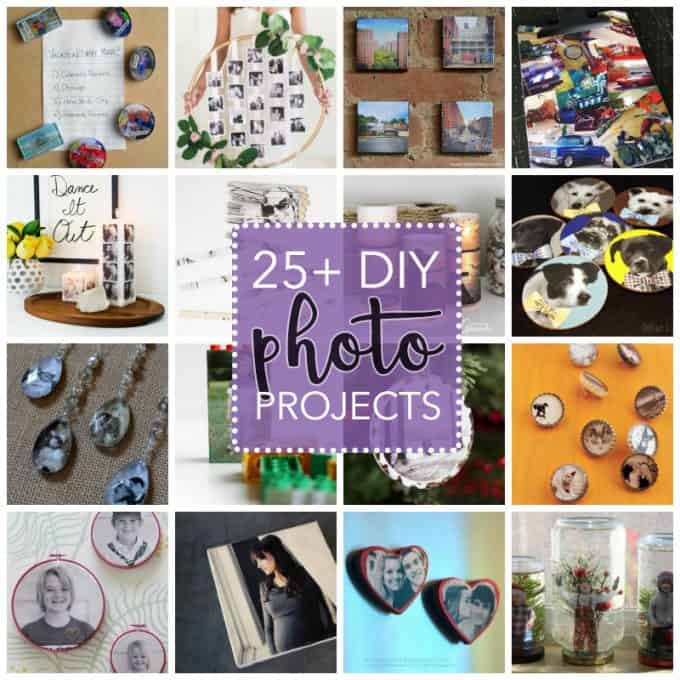 Why not get crafty with all your favorite pictures? There are tons of DIY photo projects floating around the web, all of which are great ideas and fun to craft up!