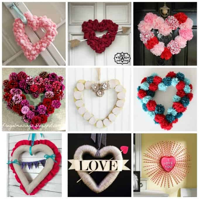 Try creating these Valentine wreaths by having a craft night with friends and family.