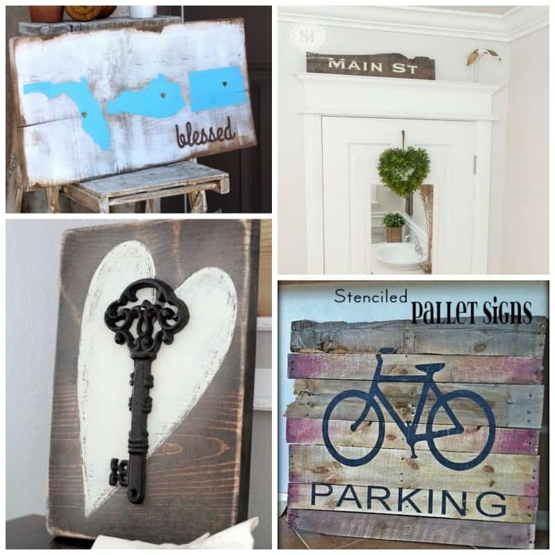 These signs make for great recycled projects using old wood from a barn, shipping crates, salvage yards, or that you find laying on the side of the road.