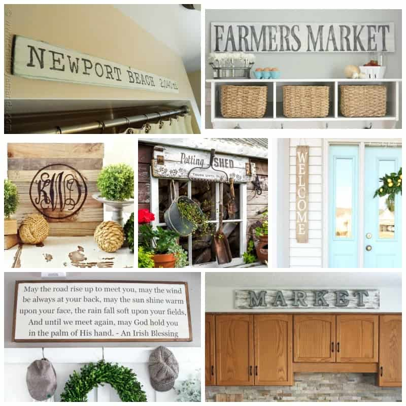 Tons of creative rustic DIY ideas to get your wheels turning!