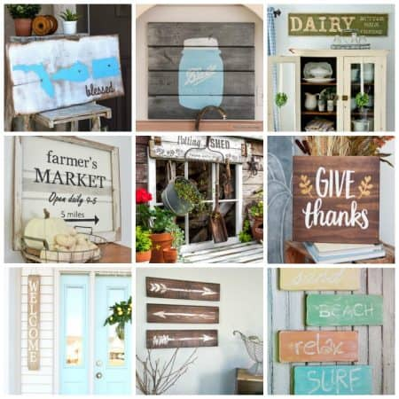 Here we've compiled a round-up of 30+ DIY rustic sign projects to get you inspired to bring rustic charm into your own home!