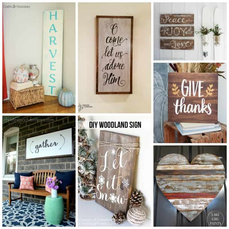 We hope you have fun creating a charming rustic sign!