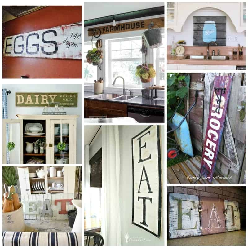 30 + DIY Rustic Sign ideas to get you started