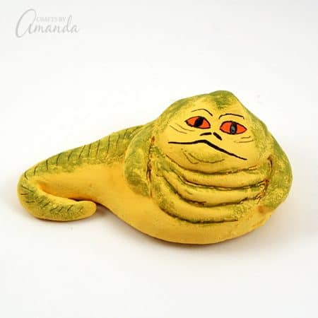 Star Wars fans will love this kid friendly Jabba the Hutt craft! Make your own Jabba from salt dough and keep him on your desk with our R2D2 pencil holder.