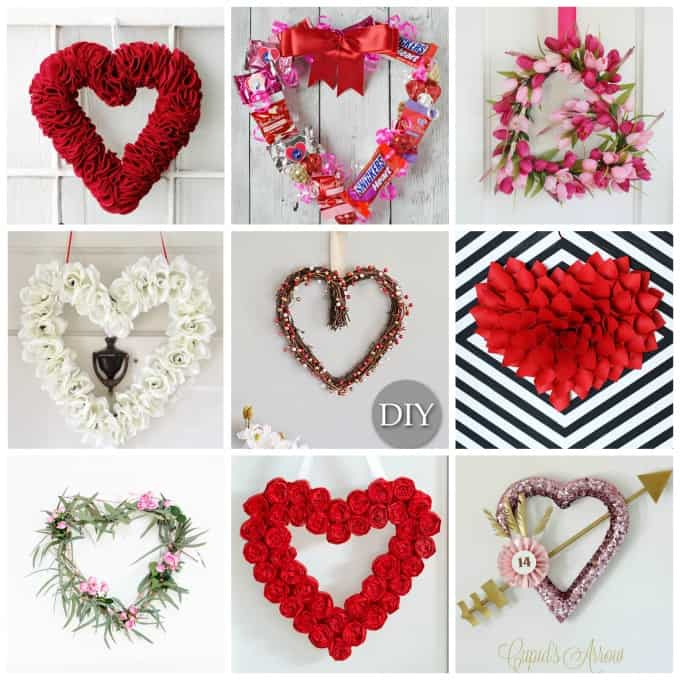 What better way to decorate for Valentine's day than to sprinkle your doors with beautiful Valentine's day inspired wreaths.