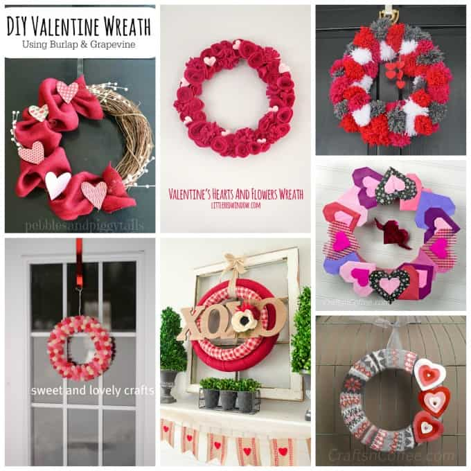 These Valentine Wreaths Are A Perfect Holiday Staples For Your Front Door!  Here You Can