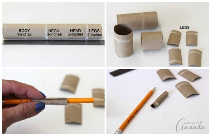 Simply made with card stock and paper this craft uses recycled products!
