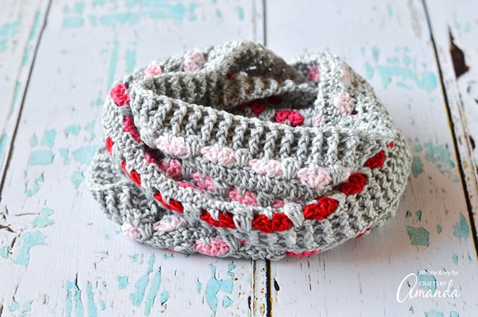 If you like your infinity scarves a little longer, you can make your foundation longer, just be sure your chain is in multiples of 6.