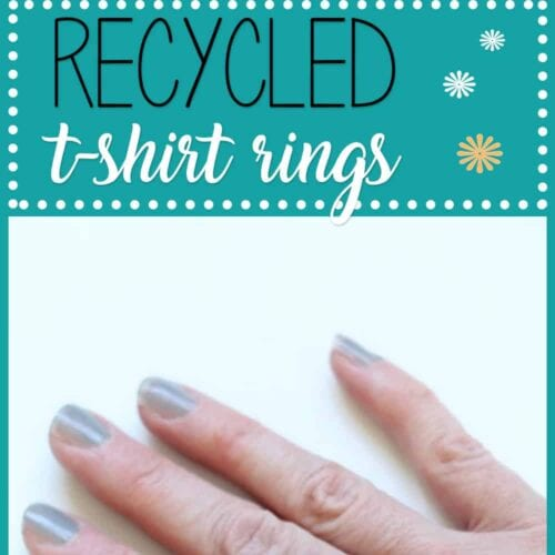 Have an old T-shirt and a few minutes? You can make your own flower T-shirt rings to dress up any outfit, from jeans to a cocktail dress.