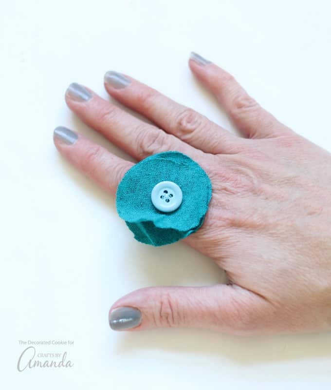 A great recycled craft for adults! The cool part about this project is how you can tailor the t shirt ring to your style.
