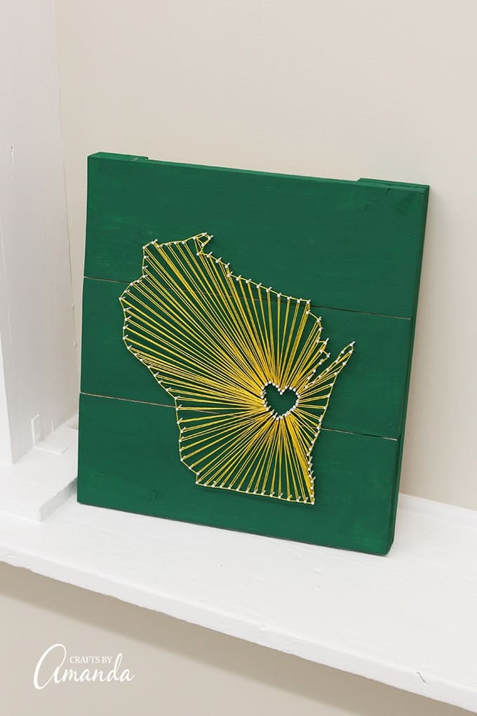 Create this fun state inspired string art with friends!