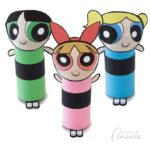 Cardboard Tube Powerpuff Girls