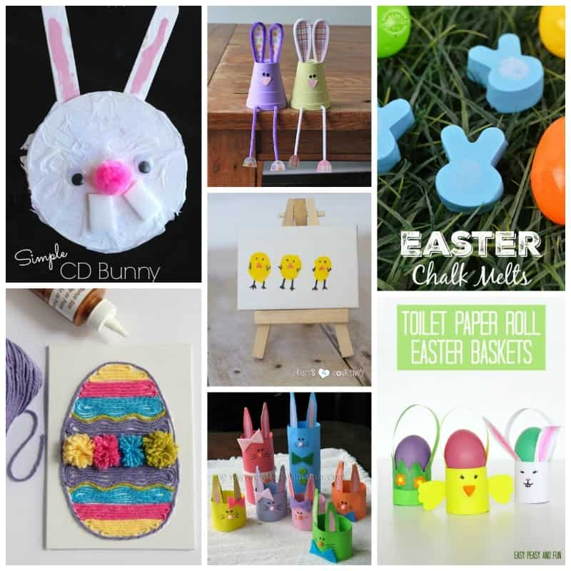 Bunnies, chicks, decorated eggs. A few of the best Easter craft ideas to make!