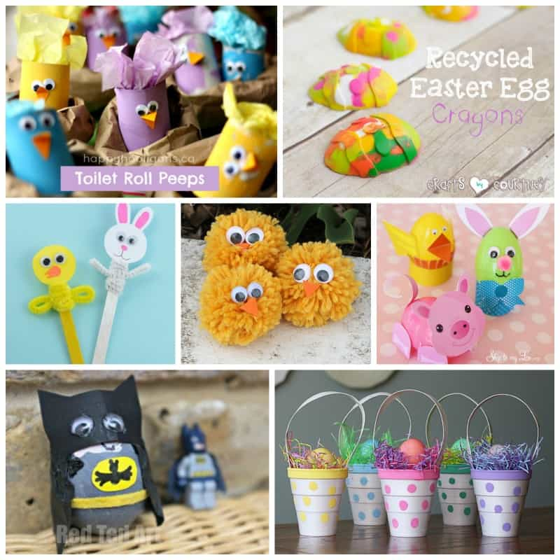 Lots of creative and adorable Easter crafts for kids!