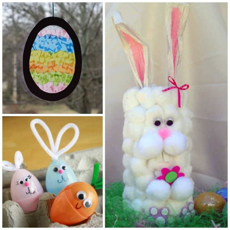 These Easter crafts are simple enough where you won't need tons of crazy supplies to make them. Enjoy the time well spent with your kids!