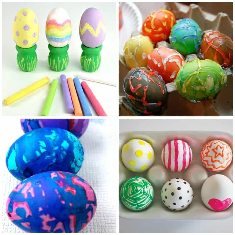 Some awesome Easter egg decorating ideas for kids!