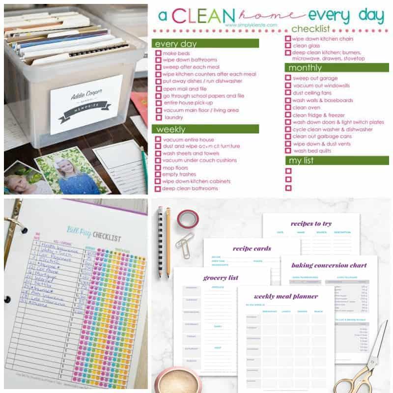 Printable organization