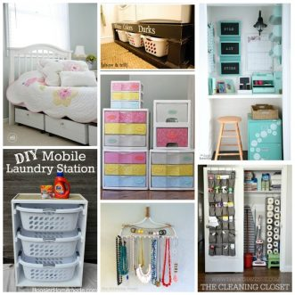 Tons of awesome home organization ideas and tips