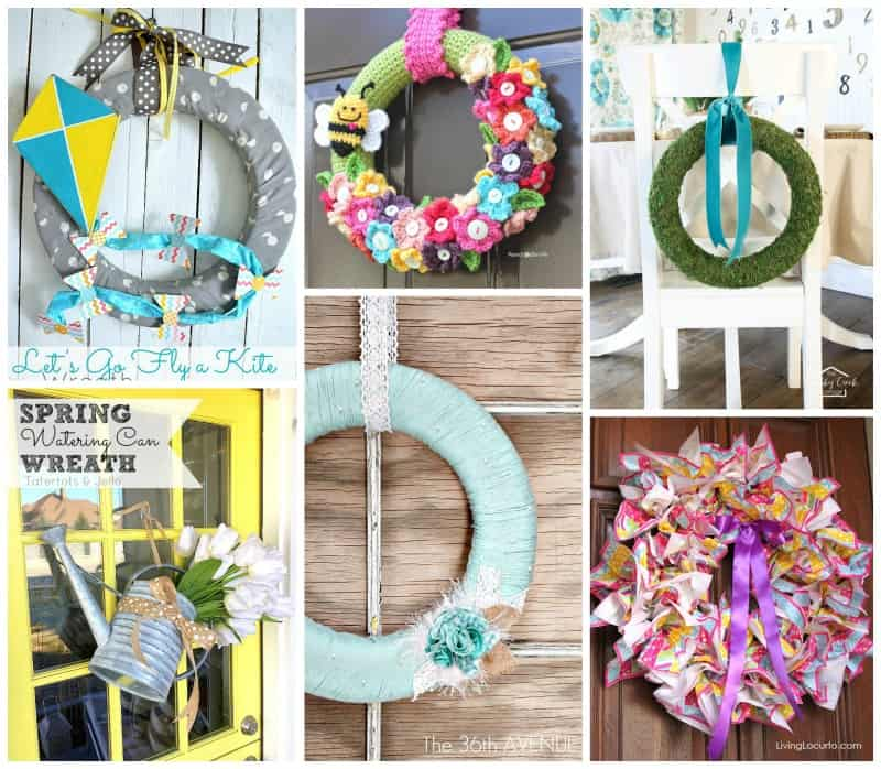 Adorable and full of color Easter and spring inspired wreaths!