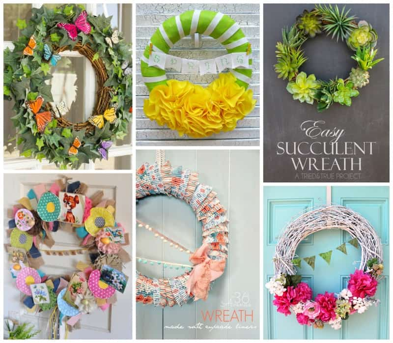 From Easter, succulent, flower and recycled wreaths, we have you covered.