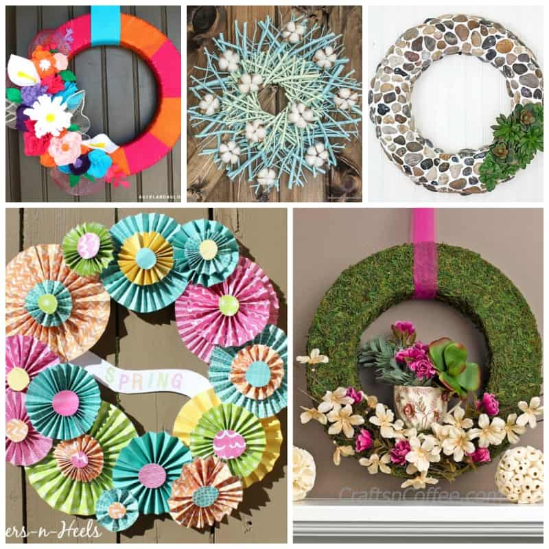 """Impress friends and family by spending a day crafting up one of these pretty wreaths and hang it on your front door for everyone to ask """"you made that?!"""""""