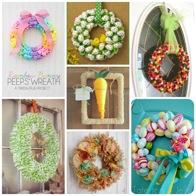 Adorable Easter wreaths covered in pretty pastels!