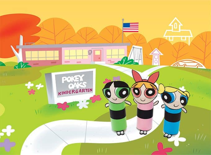 These Cardboard Tube Powerpuff Girls make great finger puppets and are perfect for an afternoon of imaginative play. When the kids are all tuckered out, settle in for an episode or two of your favorite kindergarteners onHulu.com!