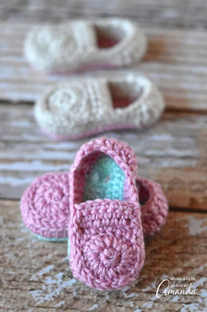 Crochet Baby Loafers Pattern – baby booties