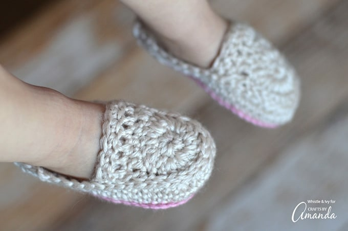 This is what gives these baby booties their cute little loafer style. I also designed them with two colors because I personally love mixing and matching colors. Take creative license with yours!
