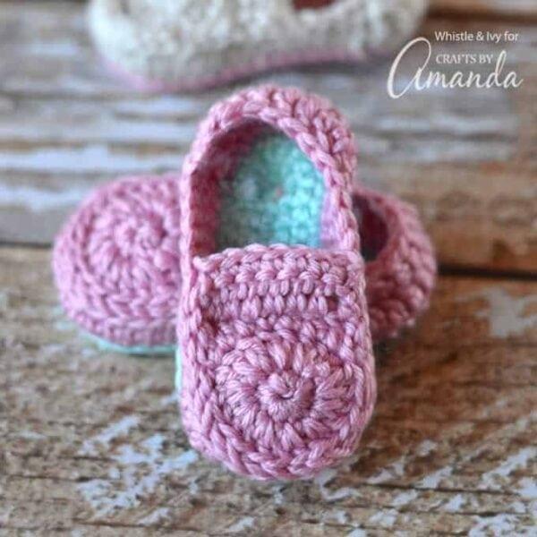 Crochet Baby Loafers Pattern