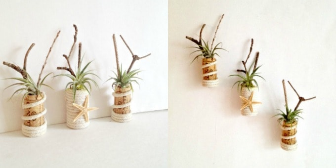 Etsy Wine Cork Air Planter Magnets