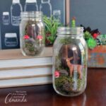 A fairy garden mason jar terrarium will be the perfect addition to your home decor this spring. Have fun with friends and create these terrariums together!