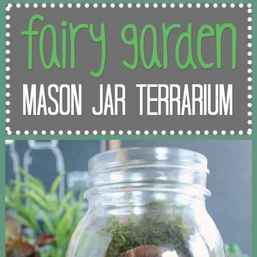 Fairy Garden Mason Jar Terrarium