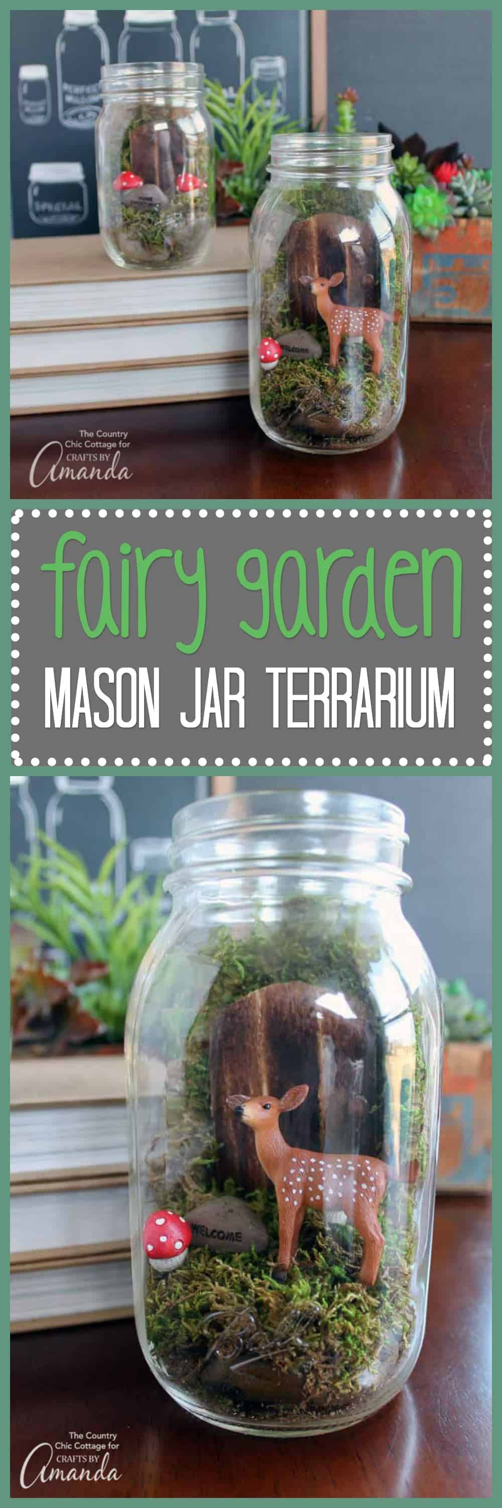 Fairy Garden Mason Jar Terrarium Make This Adorable Mini Fairy Garden Today