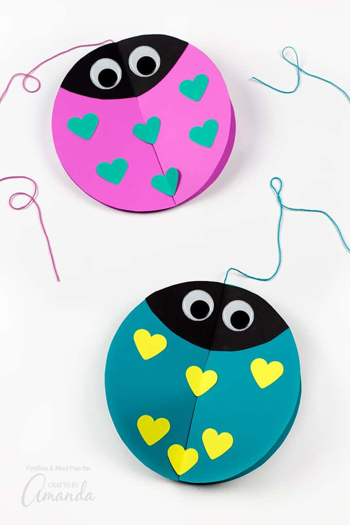Twirling lovebugs are a fun, simple, and colorful decoration that will bring joy and smiles to all who see them.