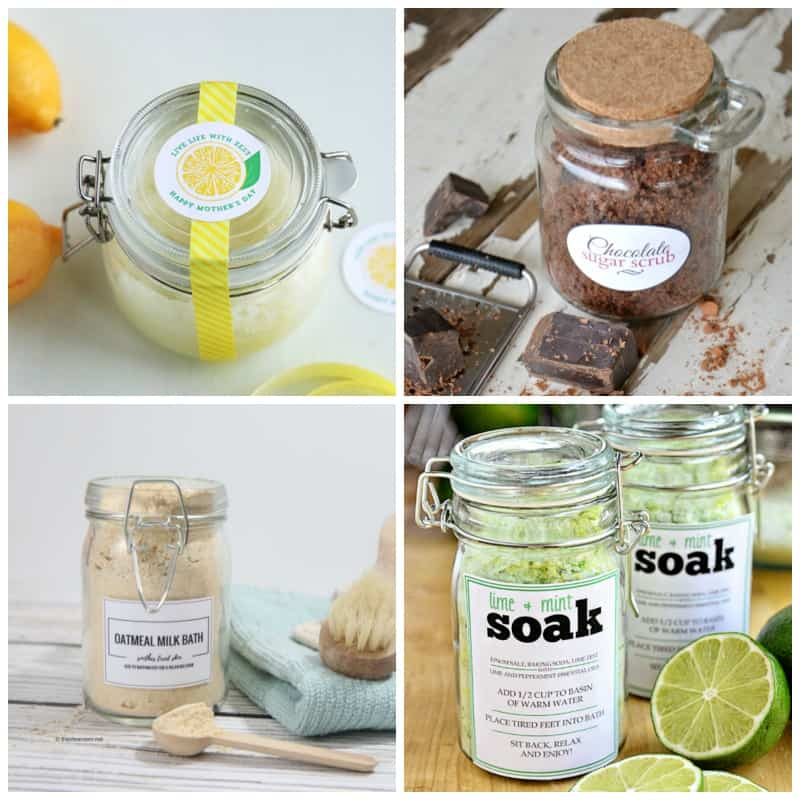 Sugar and foot scrubs for a perfect Mother's day gift idea!